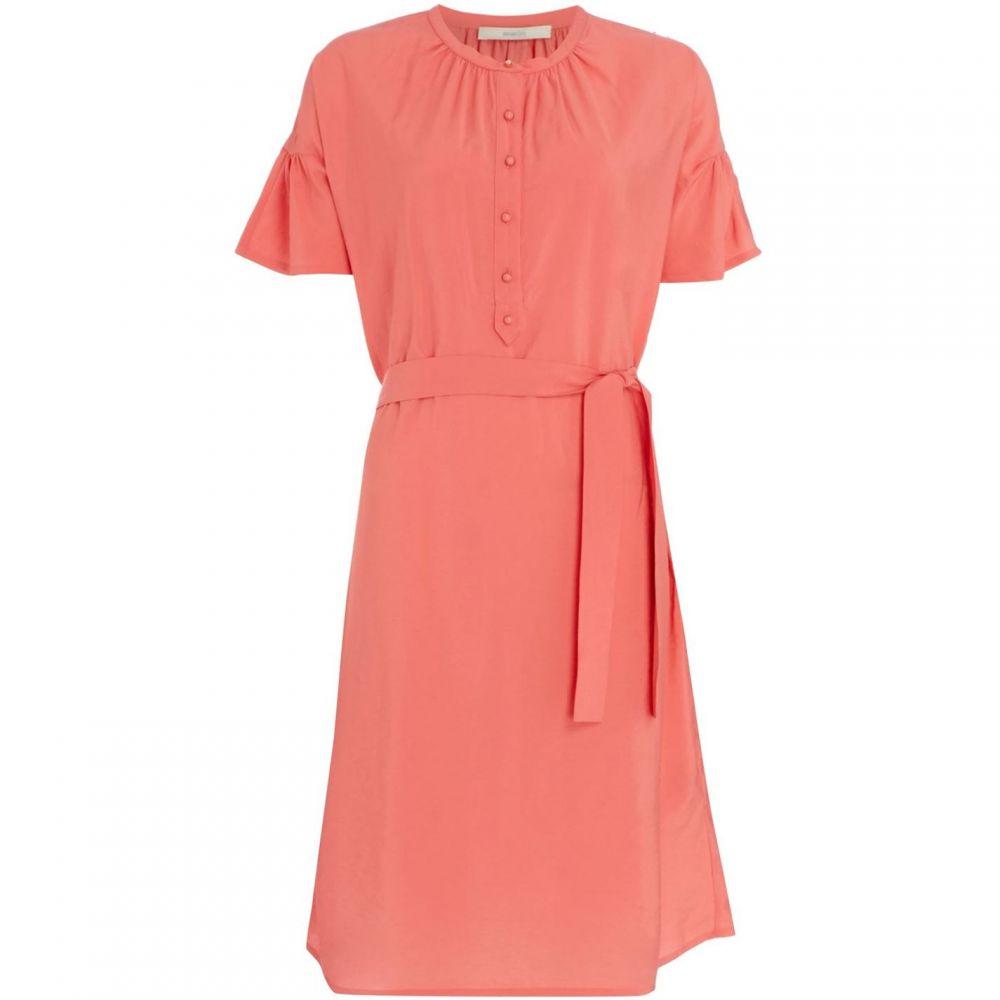 セッスン Sessun レディース ワンピース・ドレス ワンピース【Charles harper belted dress with flounce sleeve】Pink