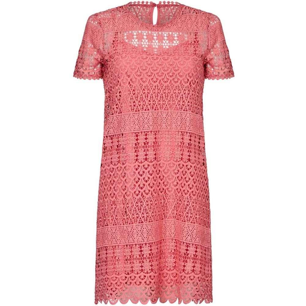 ユミ Yumi レディース ワンピース・ドレス ワンピース【Floral Lace Ocassional Tunic Dress】Coral