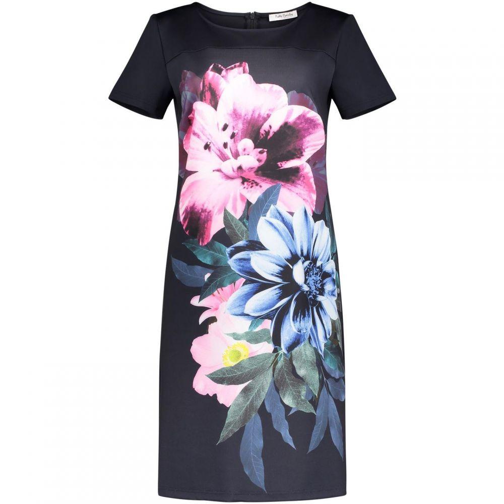 ベティー バークレイ Betty Barclay レディース ワンピース・ドレス ワンピース【Floral Print Jersey Dress】Blue