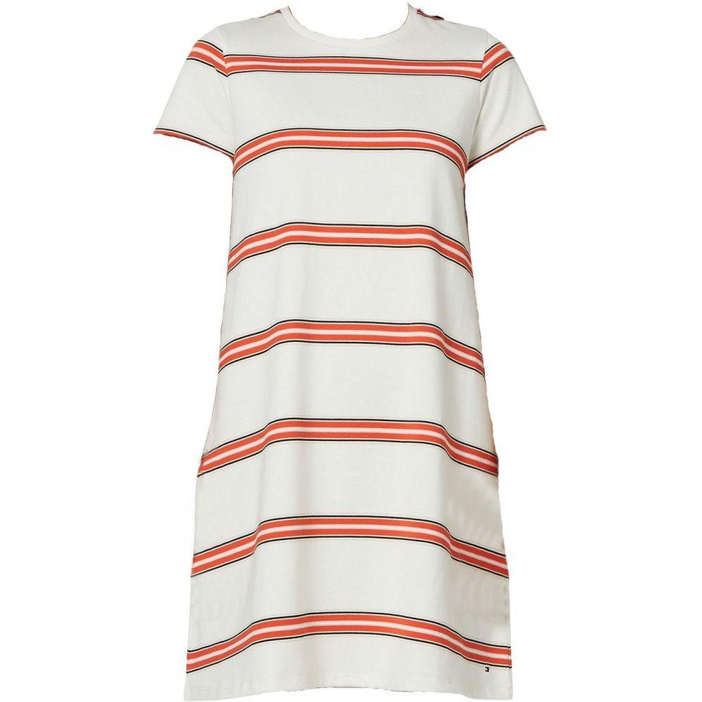 トミー ヒルフィガー Tommy Hilfiger レディース ワンピース・ドレス ワンピース【Diara Short Sleeve Striped Dress】Cream