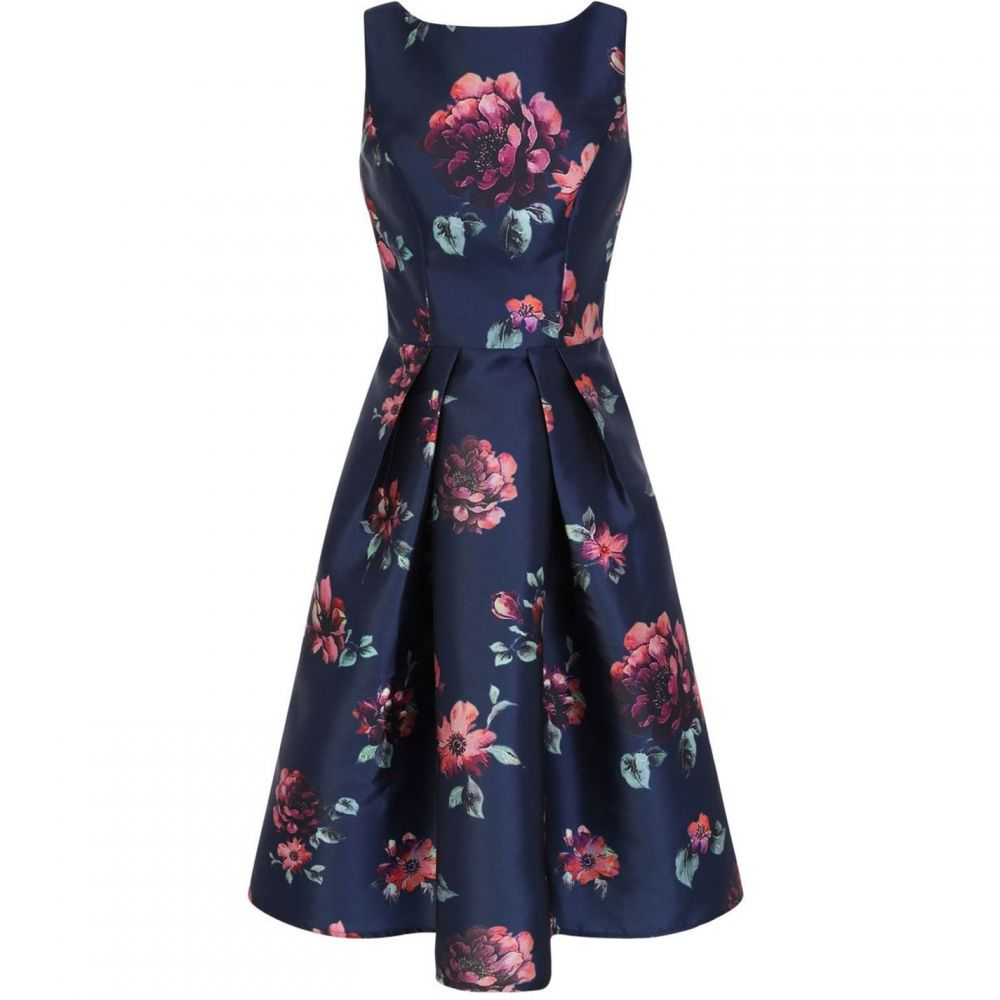 チチ Chi Chi レディース ワンピース・ドレス ワンピース【Floral Printed Midi Dress】Navy