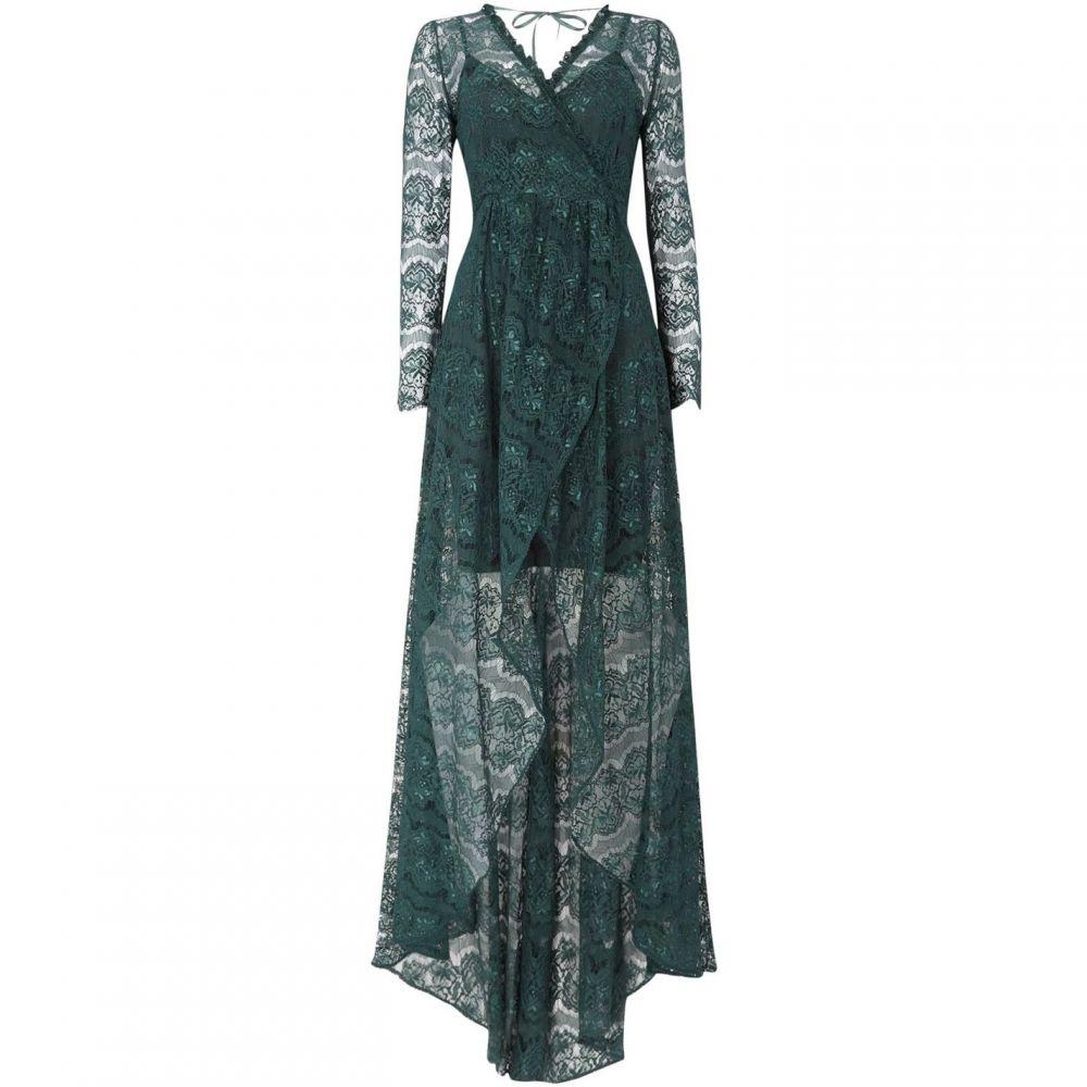 ボディフロック Body Frock レディース ワンピース・ドレス ワンピース【Long sleeve lace maxi dress】Green