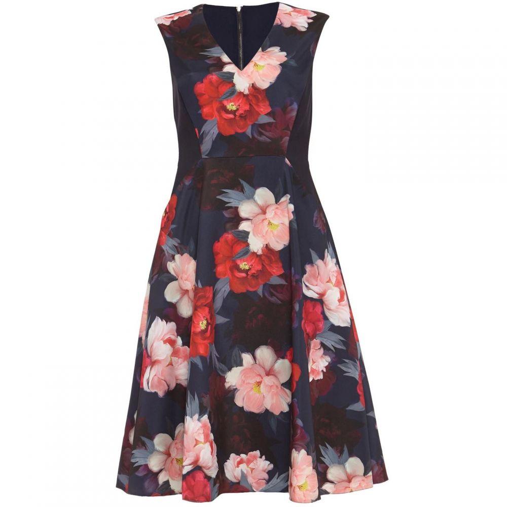 フェーズ エイト Phase Eight レディース ワンピース・ドレス ワンピース【Elba Floral Fit And Flare Dress】Navy
