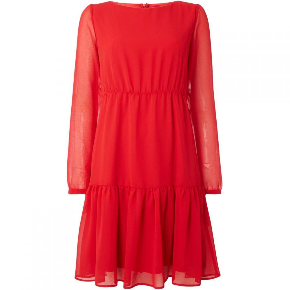 エメ Emme レディース ワンピース・ドレス ワンピース【Kuens long sleeve layered shift dress】Red