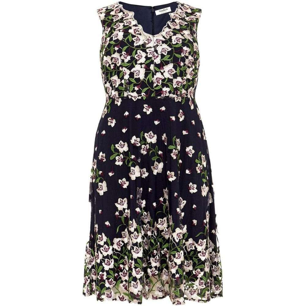 スタジオ8 Studio 8 レディース ワンピース・ドレス ワンピース【Stephanie Embroided Dress】Navy Multi