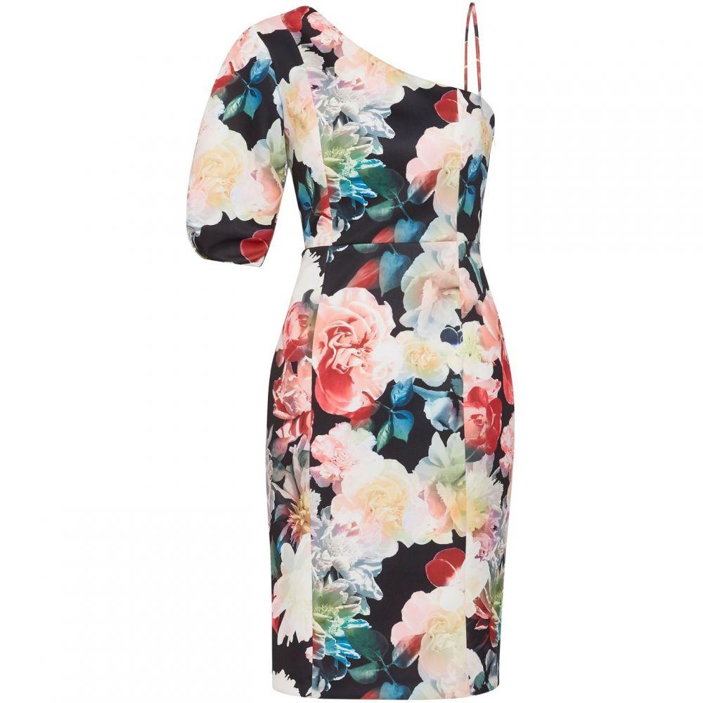 ジーナ バッコーニ Gina Bacconi レディース ワンピース・ドレス ワンピース【Lelia Floral Scuba Dress】Multi-Coloured