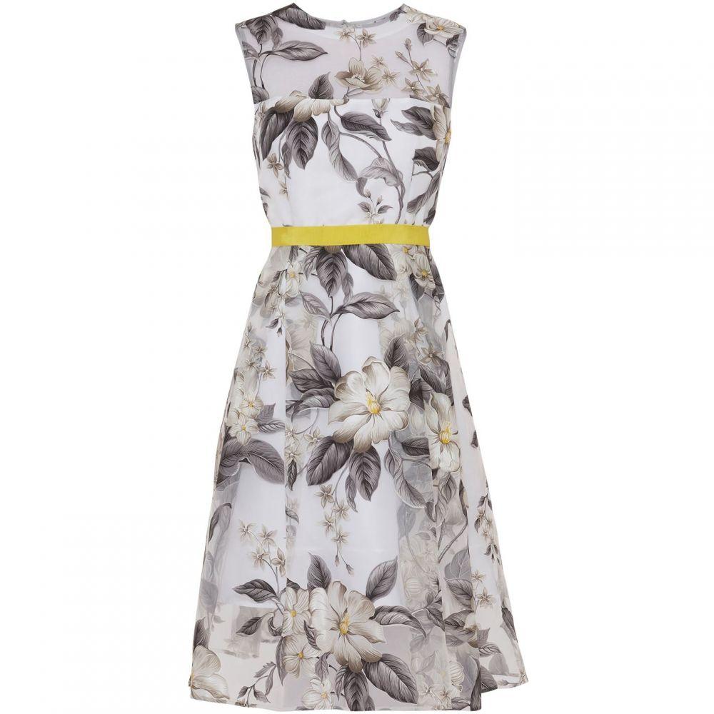 ジーナ バッコーニ Gina Bacconi レディース ワンピース・ドレス ワンピース【Fiora Floral Organza Dress】Grey