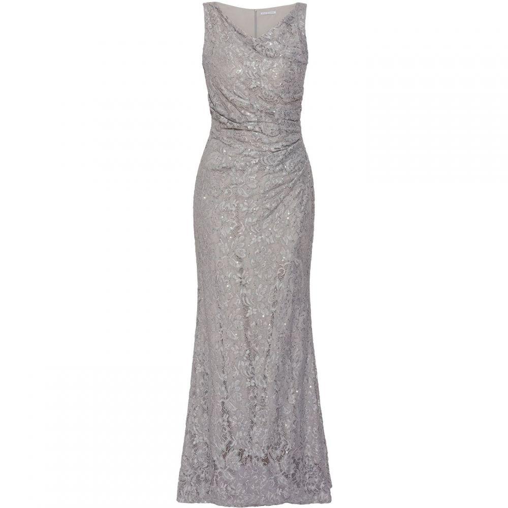 ジーナ バッコーニ Gina Bacconi レディース ワンピース・ドレス ワンピース【Harlene Lace Maxi Dress】Grey