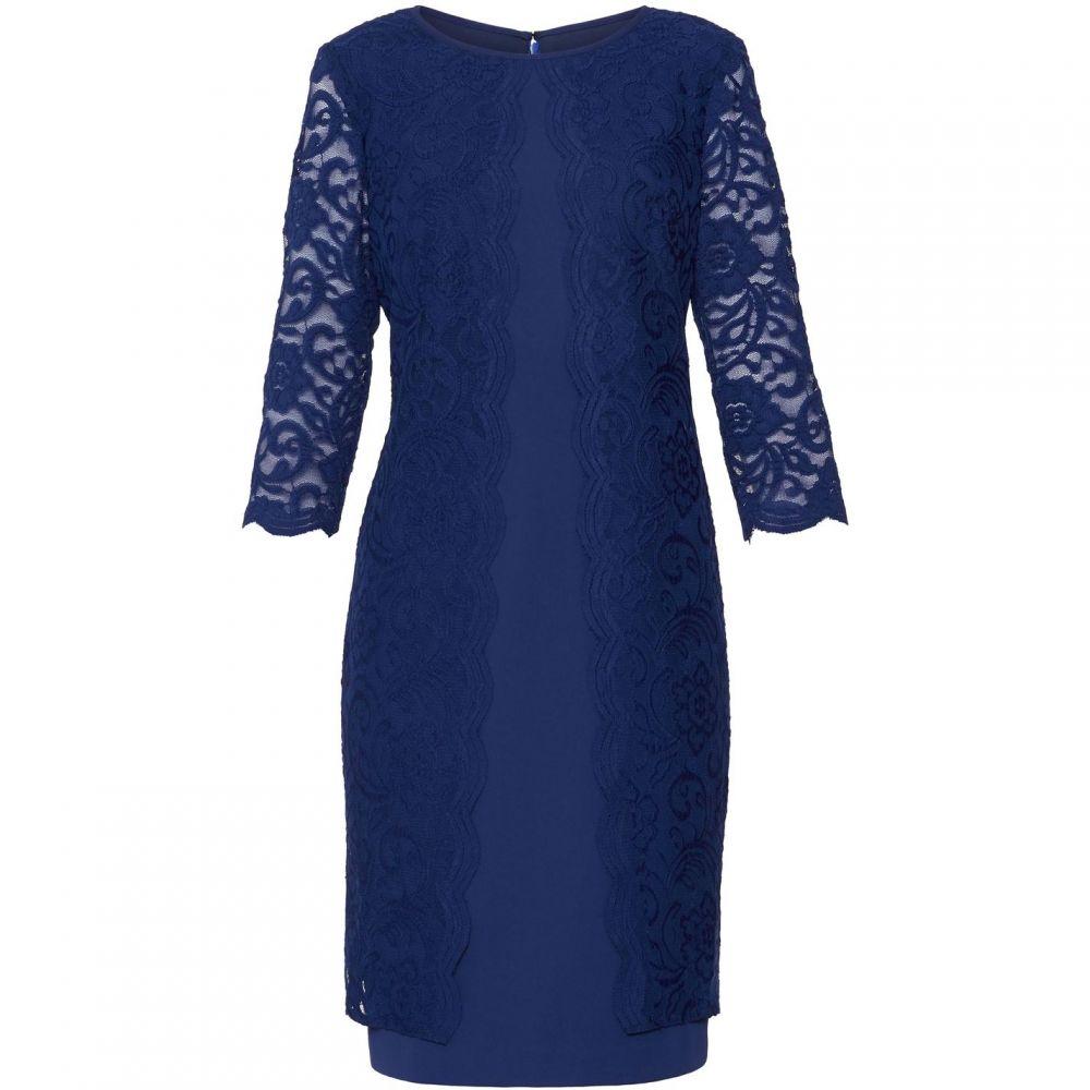 ジーナ バッコーニ Gina Bacconi レディース ワンピース・ドレス ワンピース【Clarabelle Lace Dress】Navy