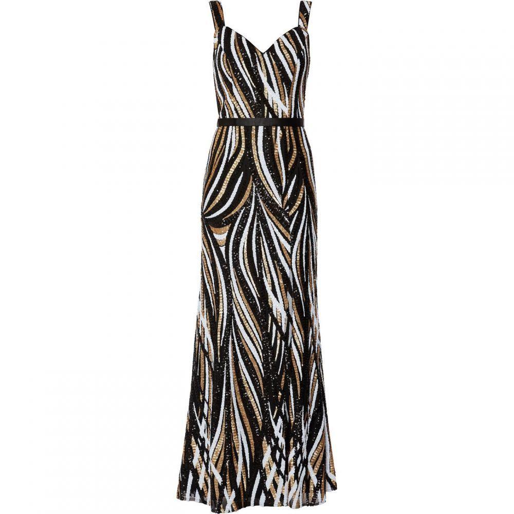 ジーナ バッコーニ Gina Bacconi レディース ワンピース・ドレス ワンピース【Daisha Sequin Maxi Dress】Black Gold