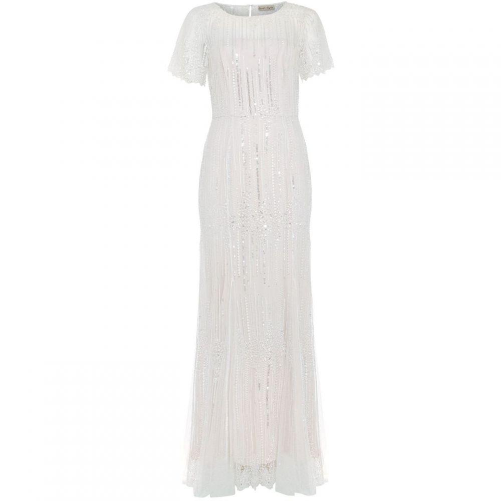 フェーズ エイト Phase Eight レディース ワンピース・ドレス パーティードレス【Leonora Sequin Embroidered Bridal Dress】Almond Cream