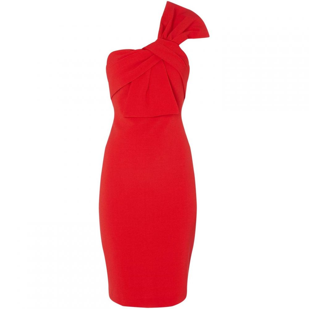 エリザジェイ Eliza J レディース ワンピース・ドレス ボディコンドレス【Strapless bodycon dress with bow】Red