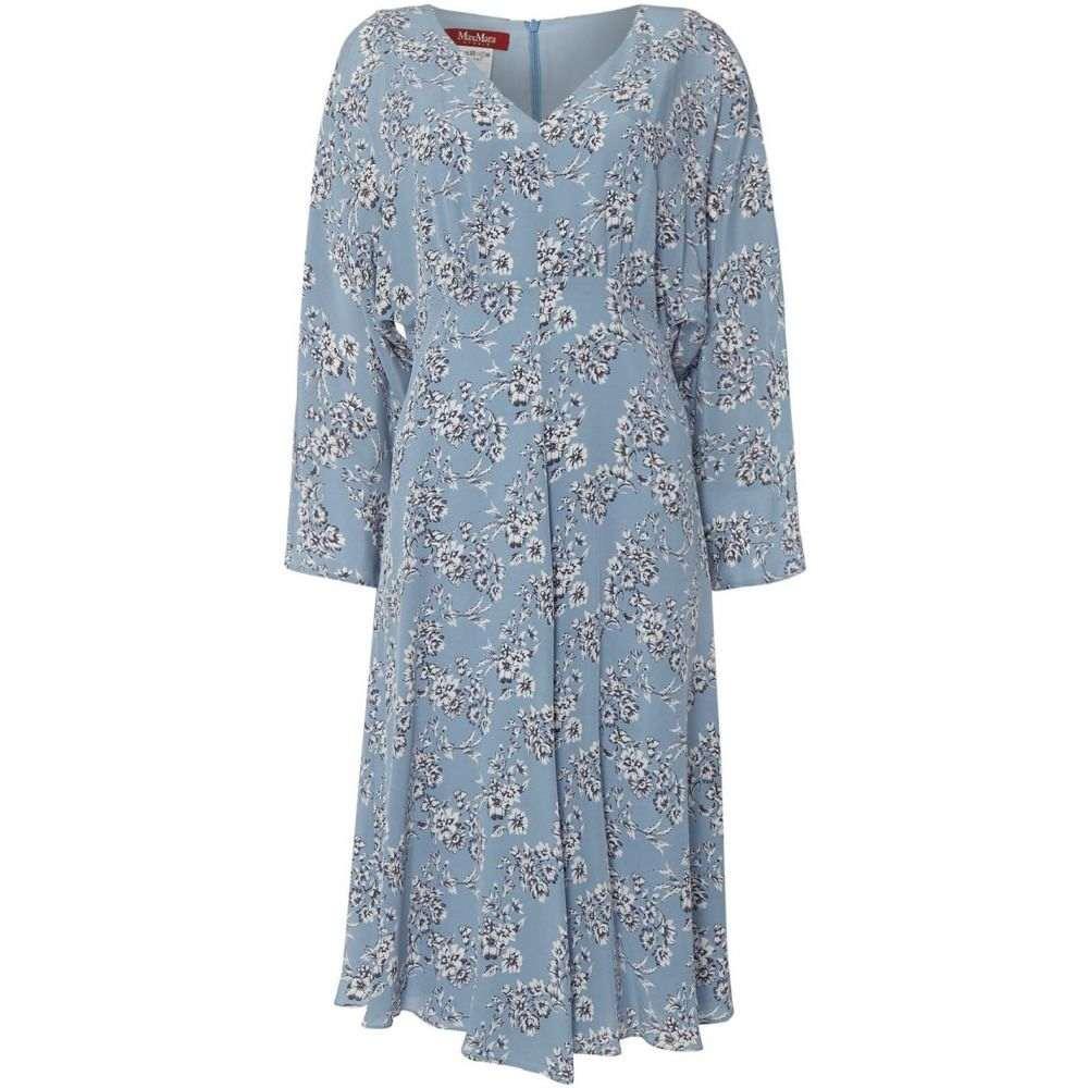 マックスマーラ Max Mara レディース ワンピース・ドレス ワンピース【Ombrosa v neck floral dress】Light Blue