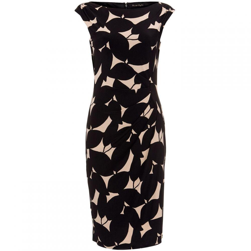 フェーズ エイト Phase Eight レディース ワンピース・ドレス ワンピース【Laurita Leaf Print Jersey Dress】Black & Camel