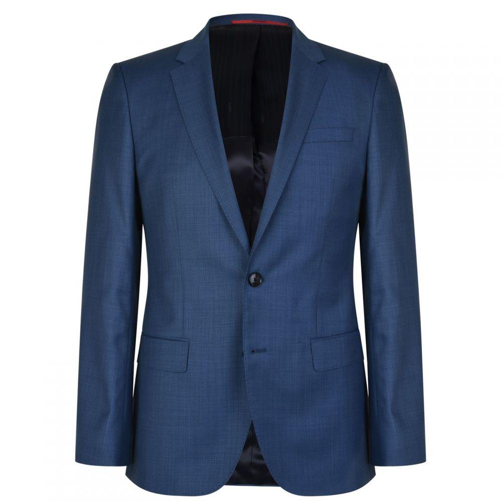 ヒューゴ ボス Hugo Business メンズ アウター スーツ・ジャケット【Slim Fit Wool Suit Jacket】Mid Blue