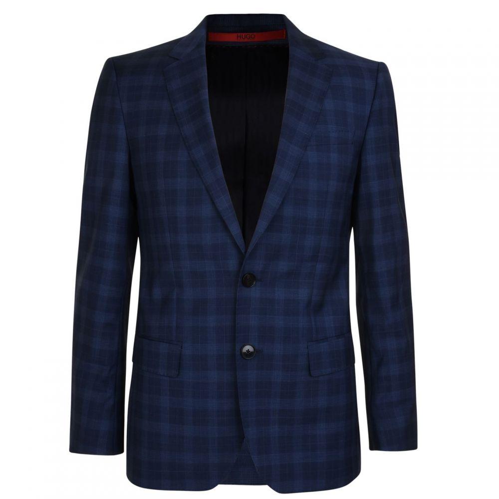 ヒューゴ ボス Hugo Business メンズ アウター スーツ・ジャケット【Checked Jacket】Bright Blue