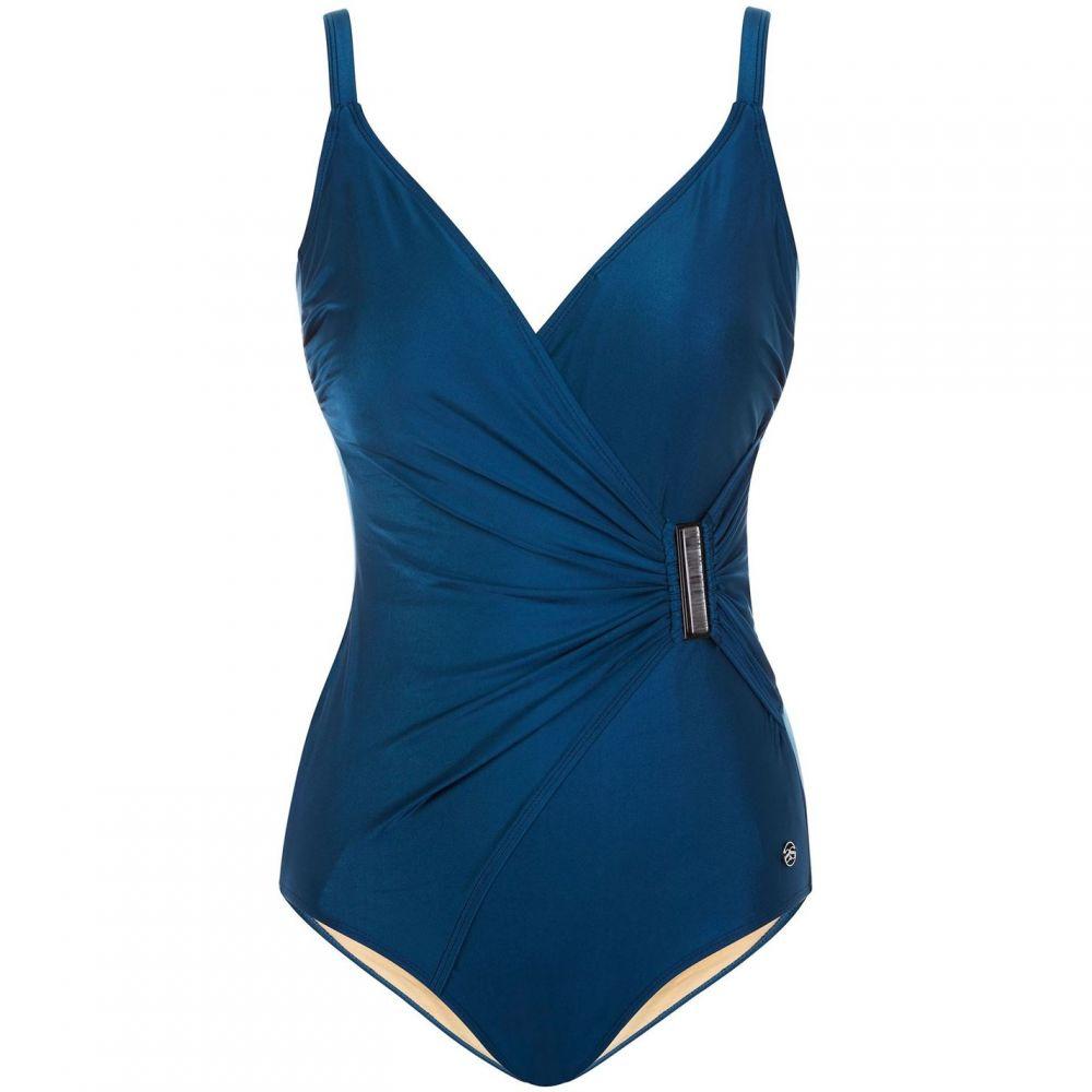 シースプレー Seaspray レディース 水着・ビーチウェア ワンピース【Casablanca plain strap trim swimsuit】Grey