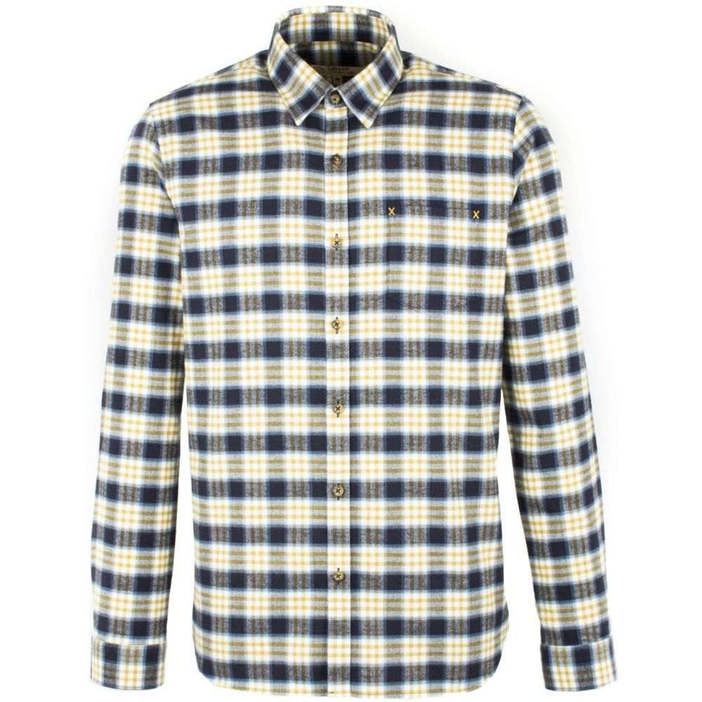 ギブソン Gibson メンズ トップス シャツ【Navy And Gold Check Long Sleeved Shirt】Navy