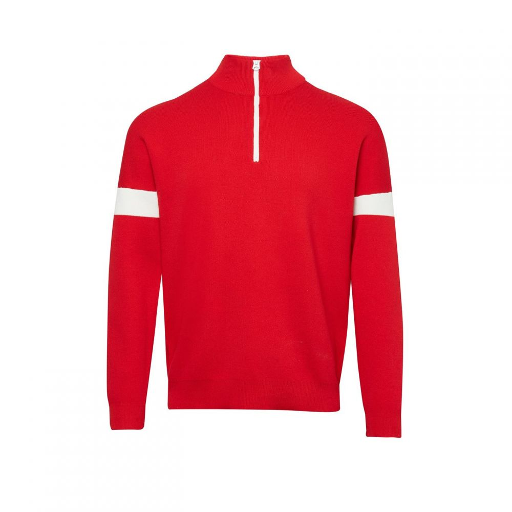 フレンチコネクション French Connection メンズ スキー・スノーボード トップス【Lakra Ski Knit Funnel Jumper】Black & Red