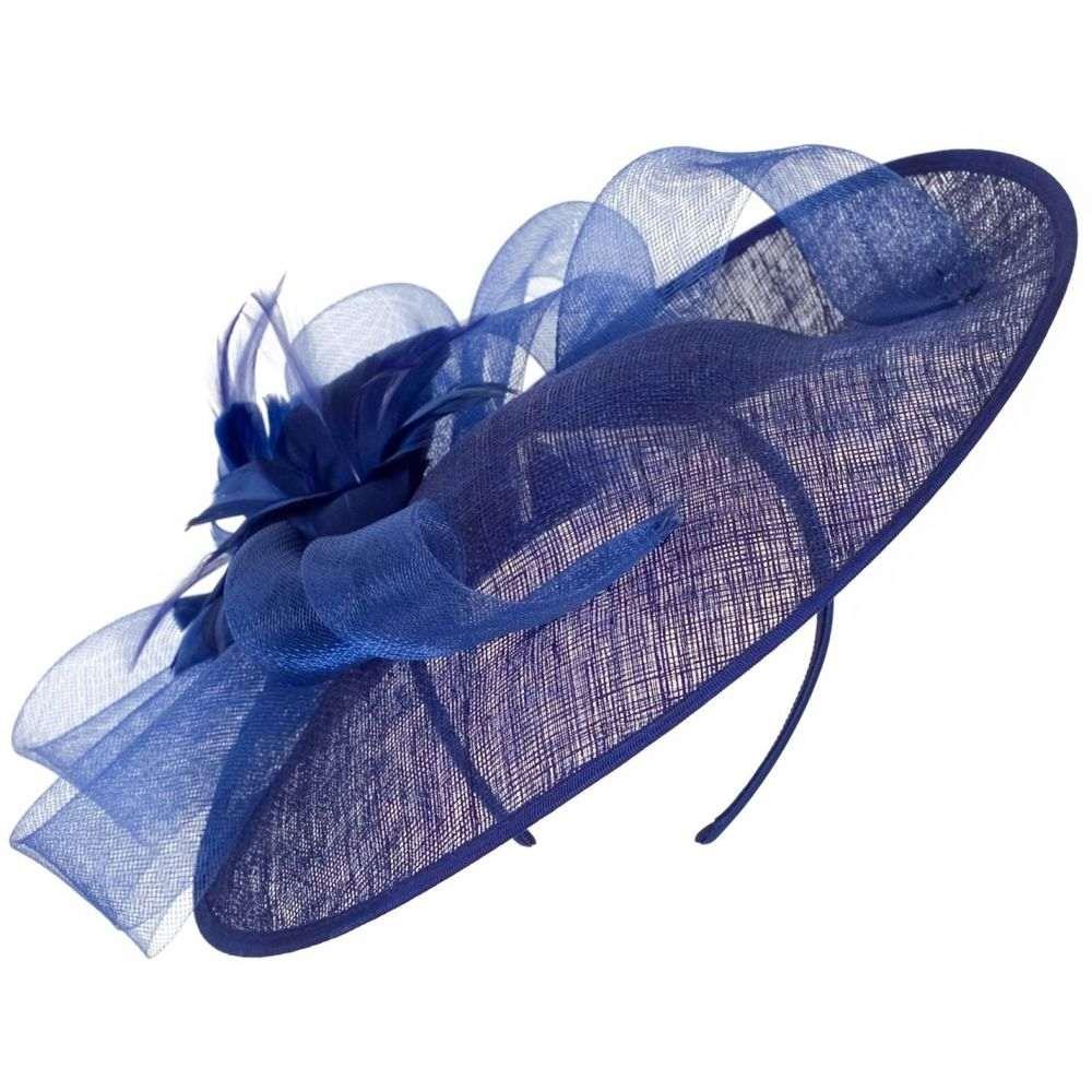 チェスカ Chesca レディース 帽子【Flower And Crin Detail Medium Hatinator】Cobalt