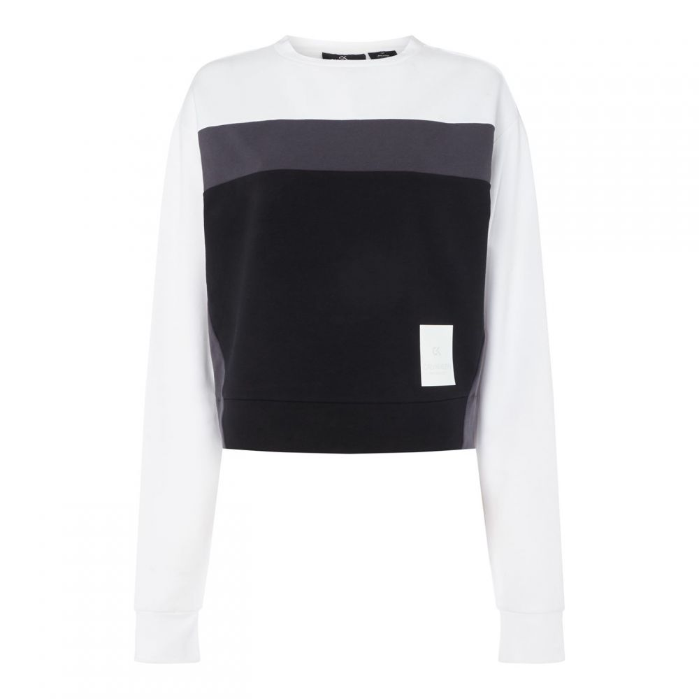 カルバンクライン Calvin Klein Performance レディース ランニング・ウォーキング トップス【Ck Perf Rtro Str Swt】BRIGHT WHITE