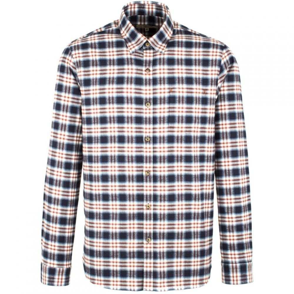 ギブソン Gibson メンズ トップス シャツ【Navy And Burgundy Long Sleeved Shirt】Navy