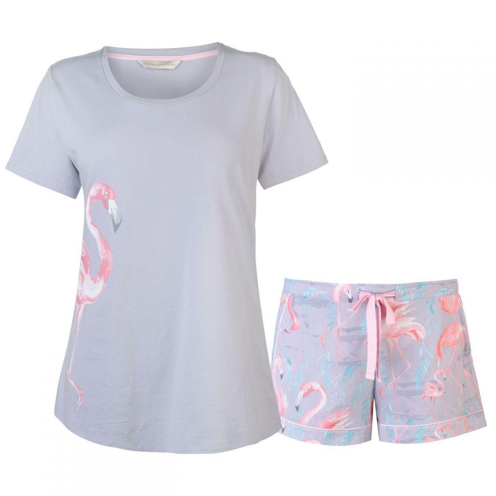 サイバーキュティーズ Cyberjammies レディース インナー・下着 パジャマ・上下セット【Flamingo Shorts Set】ZARA