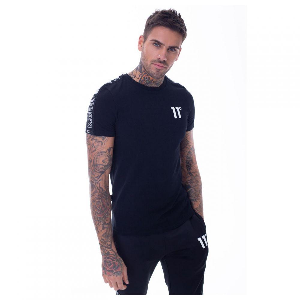 イレブンディグリー 11 Degrees メンズ Tシャツ トップス【optum taped t shirt】Black