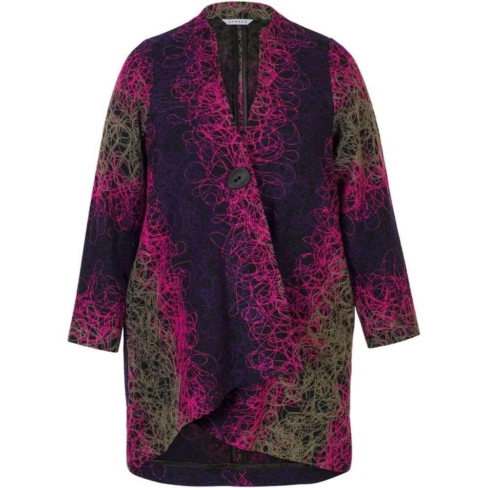 チェスカ Chesca レディース アウター コート【Scribble Embroidered Coat】Multi-Coloured