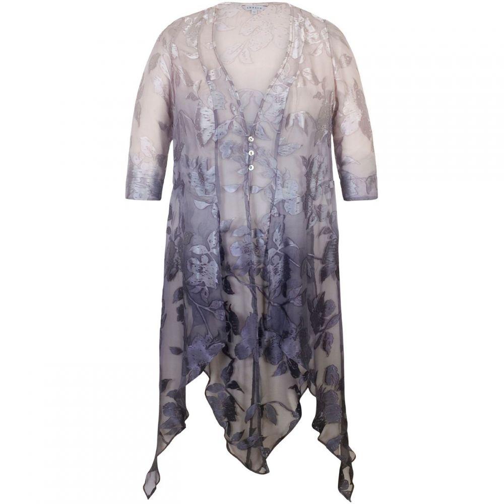 チェスカ Chesca レディース アウター コート【Ombre Devoree Pixie Coat】Purple