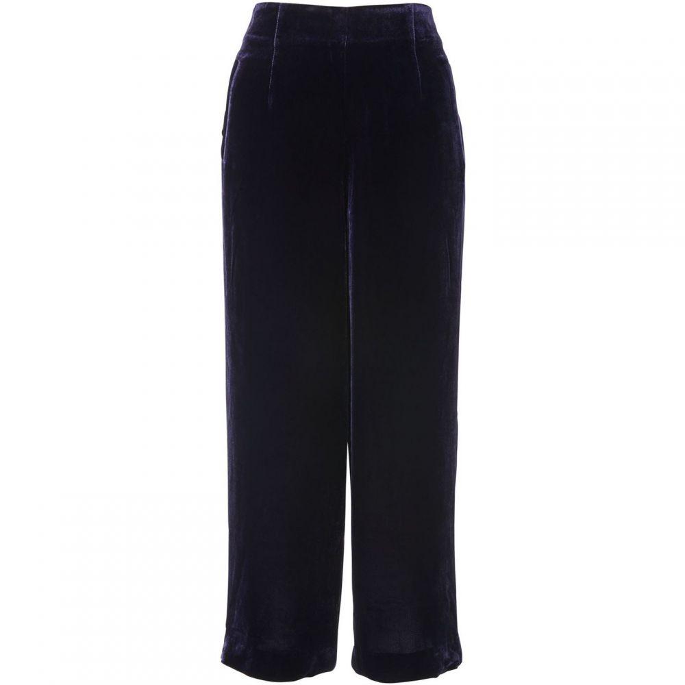 ホイッスルズ Whistles レディース クロップド ワイドパンツ ボトムス・パンツ【velvet crop wide leg trouser】Purple