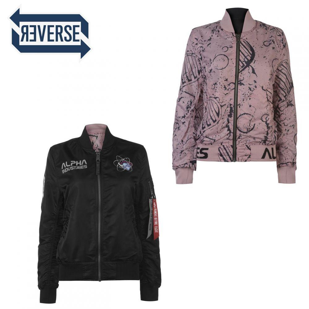 アルファ インダストリーズ Alpha Industries レディース ジャケット アウター【ma1 reversible moon jacket】Black