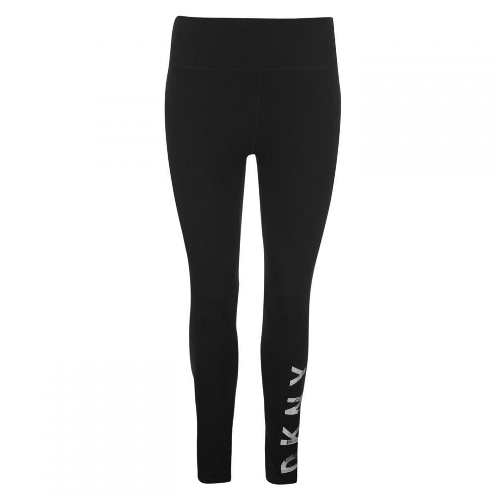 ダナ キャラン ニューヨーク DKNY レディース インナー・下着 スパッツ・レギンス【High Waisted Logo Leggings】Black