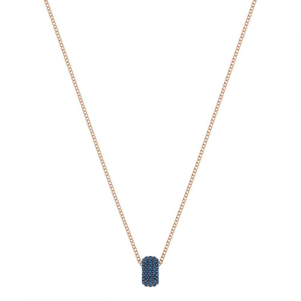 スワロフスキー Swarovski レディース ジュエリー・アクセサリー 【stone round pendant, blue, rose gold plating】Blue