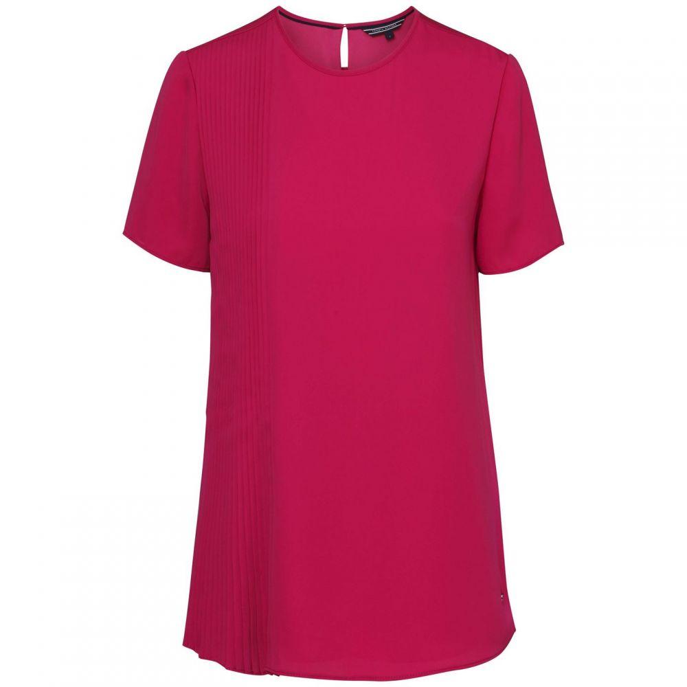 トミー ヒルフィガー Tommy Hilfiger レディース トップス 【nalise pleated short sleeve top】Pink