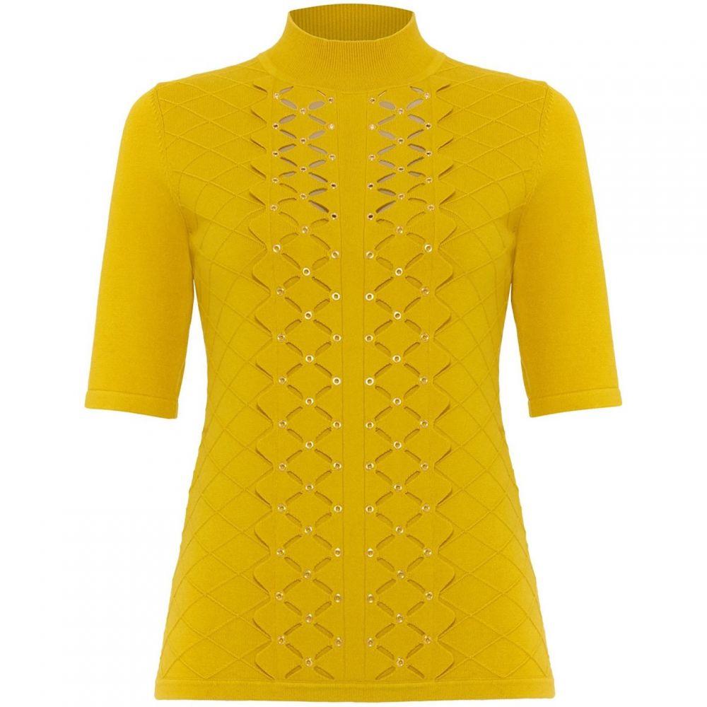 ダンセル Damsel in a Dress レディース トップス 【leona eyelet detail knitted top】Mustard