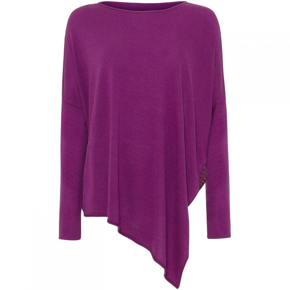 フェーズ エイト Phase Eight レディース トップス 【melinda asymmetric knitted top】Purple