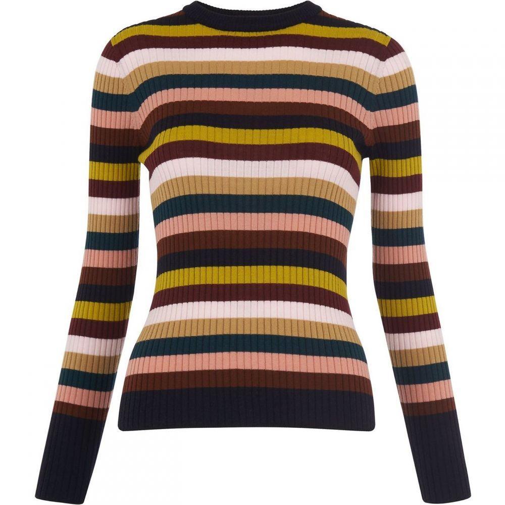 ホイッスルズ Whistles レディース ニット・セーター トップス【multi stripe rib knit】Multi-Coloured