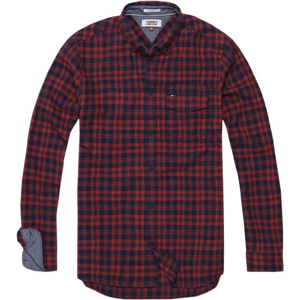 トミー ヒルフィガー Tommy Hilfiger メンズ シャツ トップス【tommy jeans textured check shirt】Red