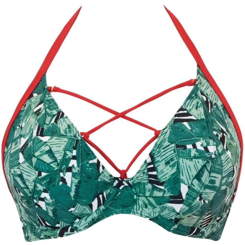 カービーケイト Curvy Kate レディース トップのみ 水着・ビーチウェア【paradise palm halterneck bikini】Green