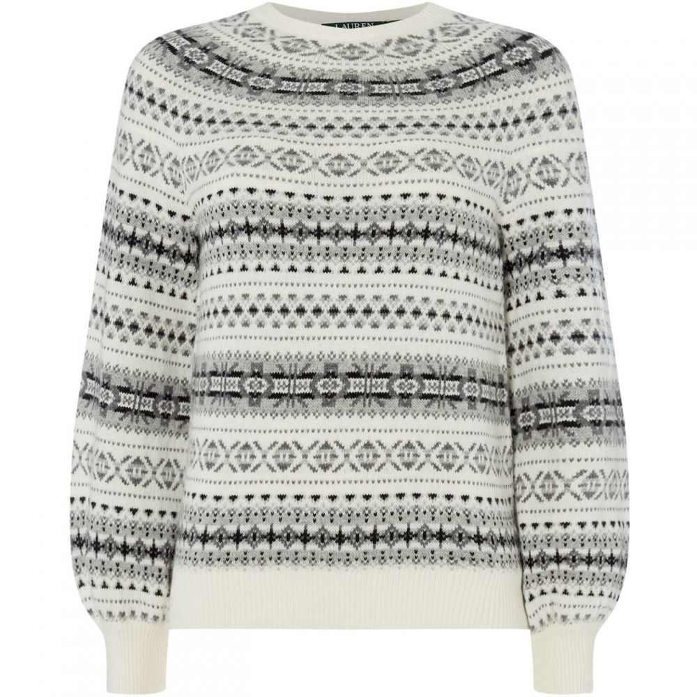 ラルフ ローレン Lauren by Ralph Lauren レディース ニット・セーター トップス【philantha patterned sweater】Cream