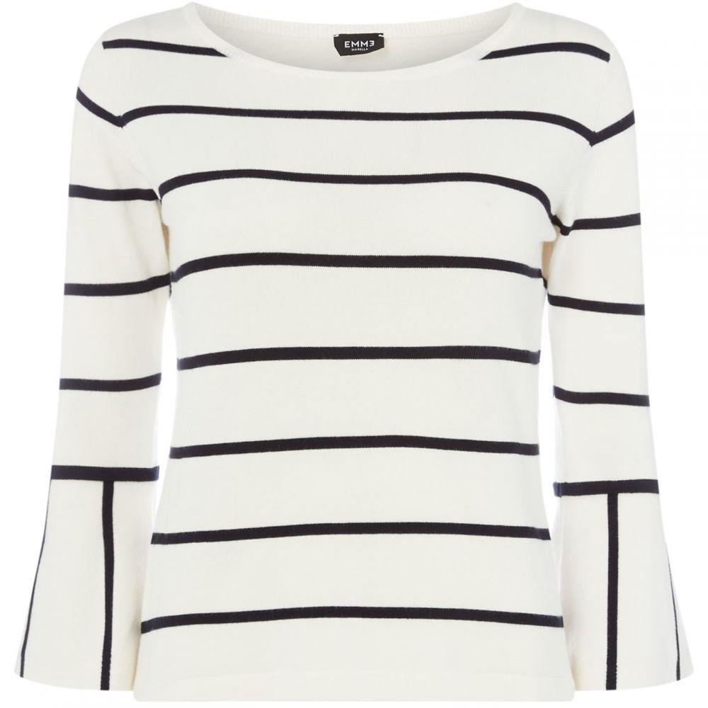 エメ Emme レディース トップス ニット・セーター【Poldo flared cuff sweater】White