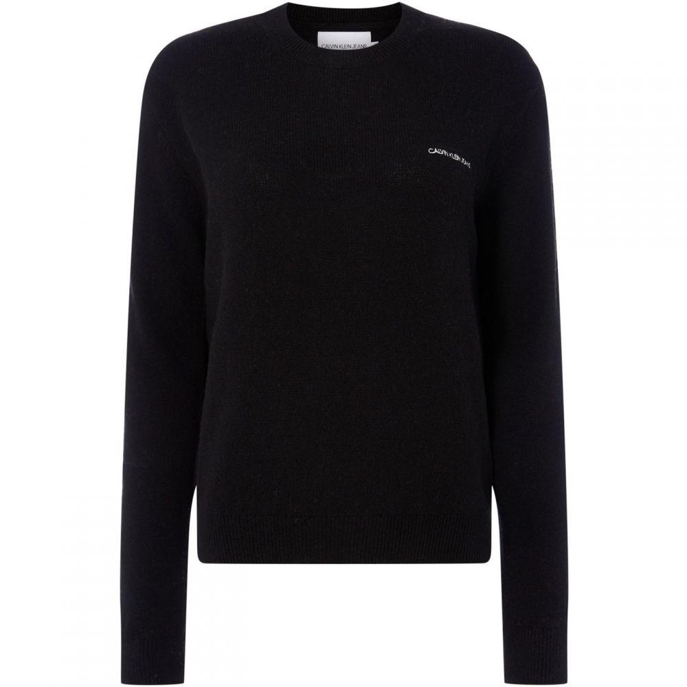 カルバンクライン Calvin Klein レディース ニット・セーター トップス【institutional back logo sweater】Black