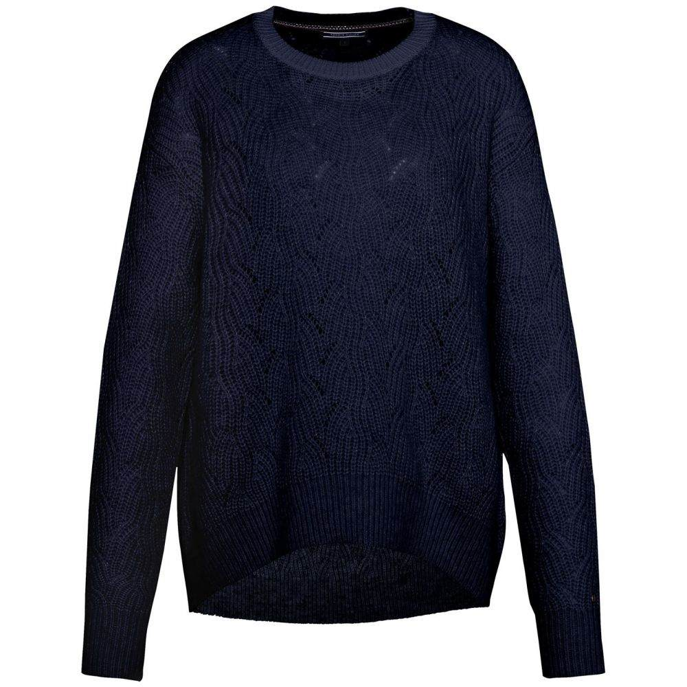 トミー ヒルフィガー Tommy Hilfiger レディース ニット・セーター トップス【akana texture crew neck sweater】Navy