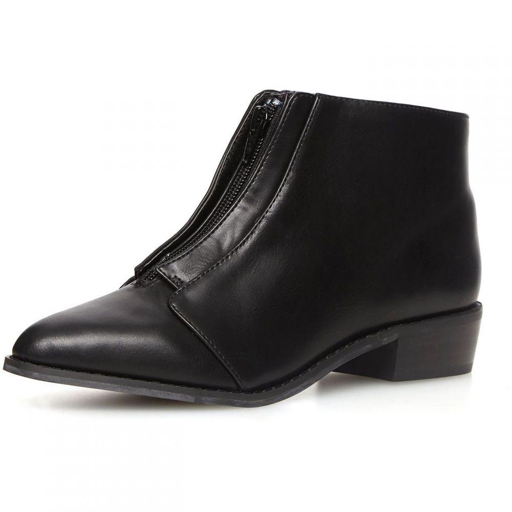 ドロシー パーキンス Dorothy Perkins レディース シューズ・靴 ブーツ【Zip Front Pointed Boots】Black