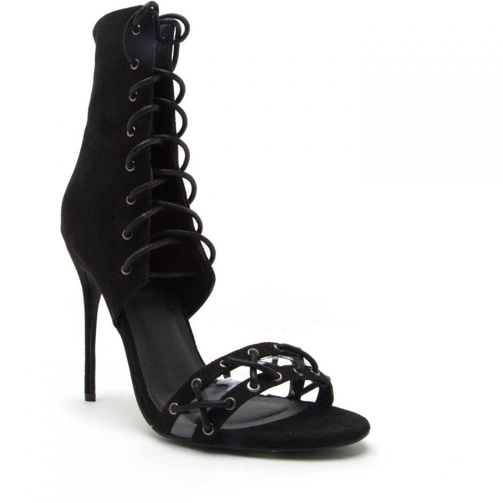 キューピッド Qupid レディース シューズ・靴 ブーツ【Helsa 01 Strap Peep Toe Boot】Black