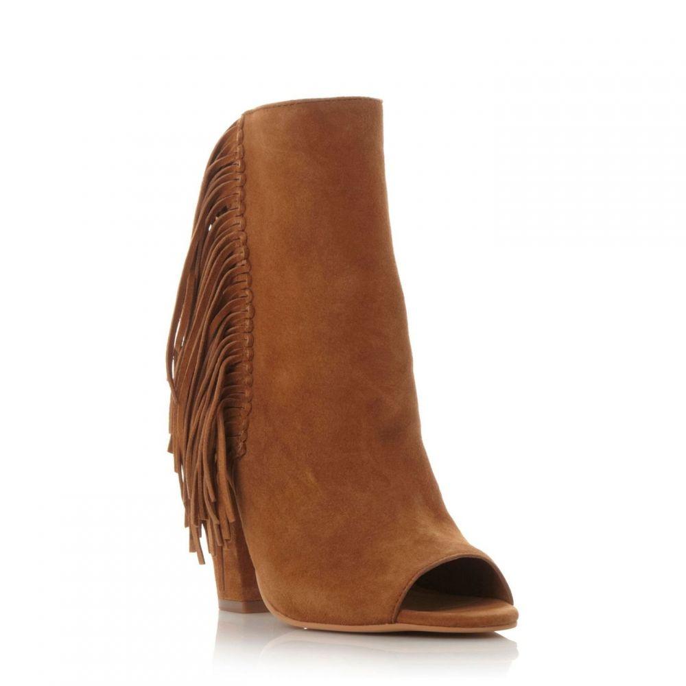ドルチェヴィータ Dolce Vita レディース シューズ・靴 ブーツ【Dv mazarine fringe peep toe boots】Tan