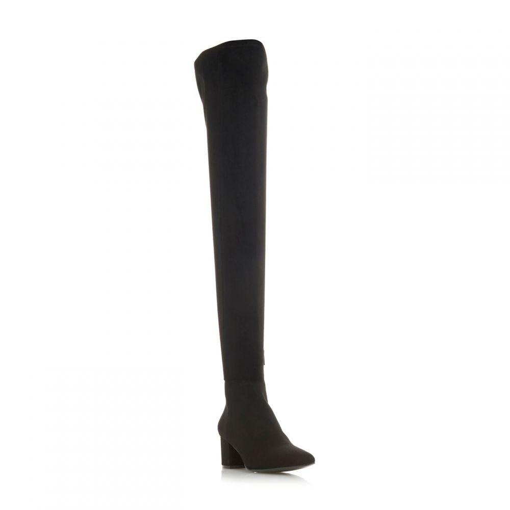 スティーブ マデン Steve Madden レディース シューズ・靴 ブーツ【Bolted Sm Stretch Point Block Heel Boots】Black