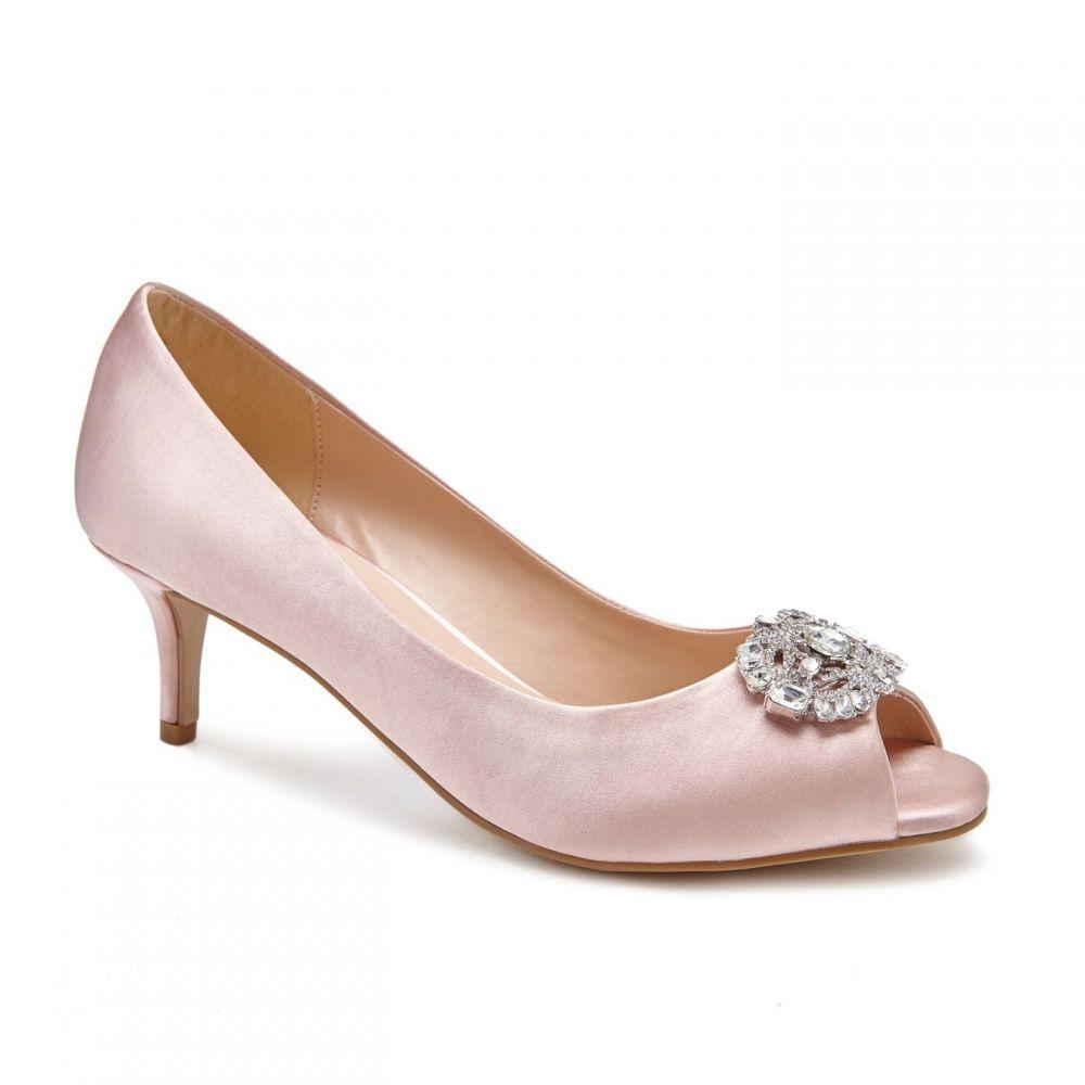 パラドックスロンドンピンク Paradox London Pink レディース ヒール シューズ・靴【prunella mid heel peep toe shoes】Blush