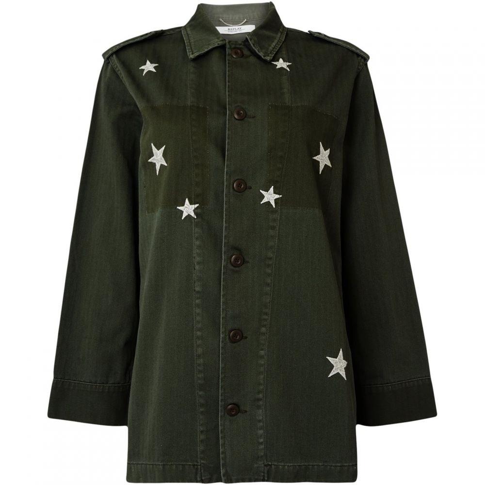 リプレイ Replay レディース ブラウス・シャツ トップス【star army cotton shirt】Green